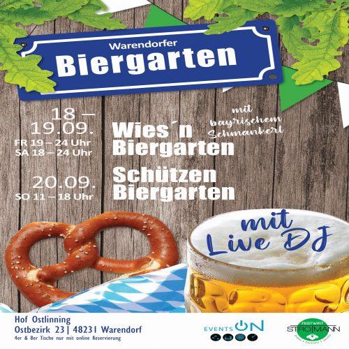 Warendorfer Biergarten vom 18. – 20. September 2020