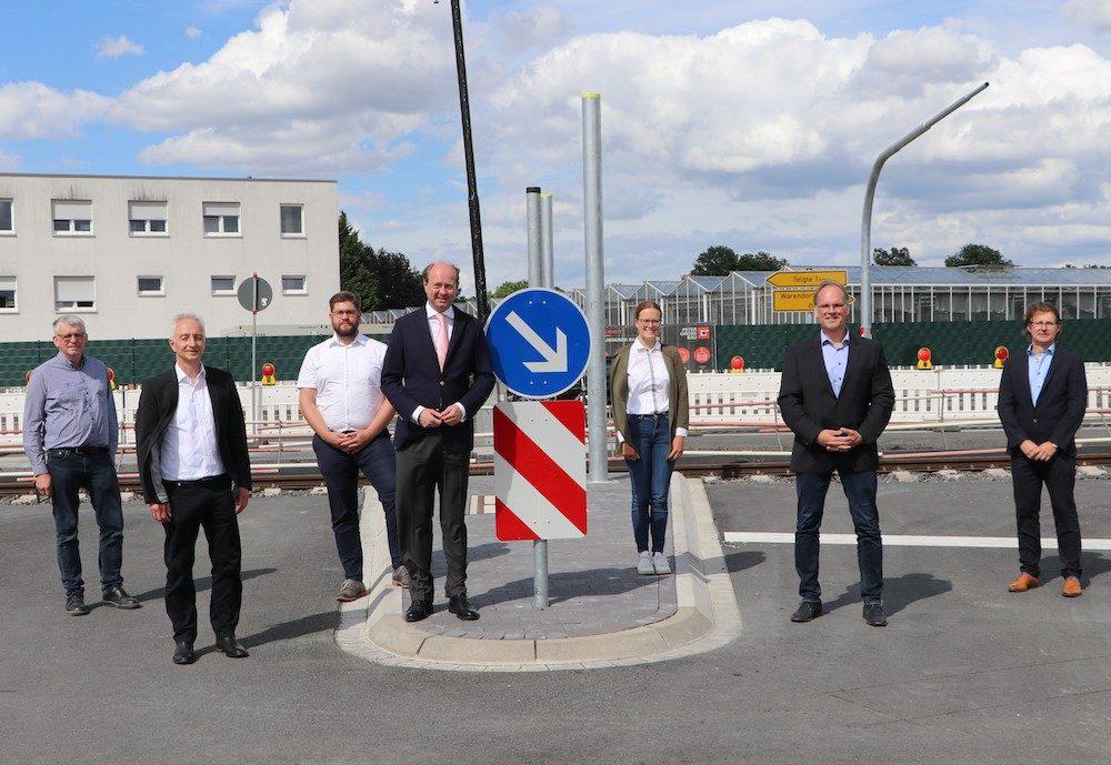 Bahnübergang Delsener Heide kurz vor Fertigstellung / Warendorfer Straße wieder befahrbar