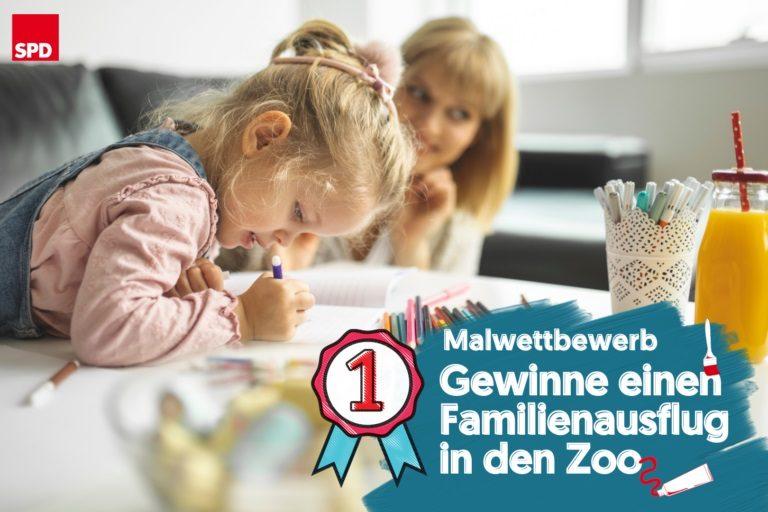 Malwettbewerb der SPD: Nach Ostern zum Familienausflug in den Zoo