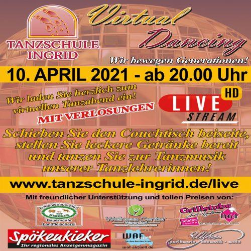 """Virtual Dancing"" LIVE aus der ADTV Tanzschule Ingrid"